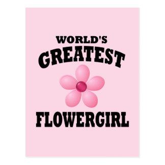 Flowergirl más grande del mundo postal