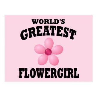 Flowergirl más grande del mundo tarjetas postales