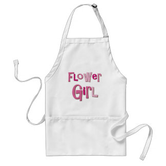 FlowerGirl Pink Brown Adult Apron
