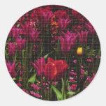 flowergrid pegatina redonda