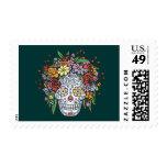 Flowerhair Sugar Skull Stamp
