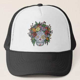 Flowerhair Sugar Skull Trucker Hat