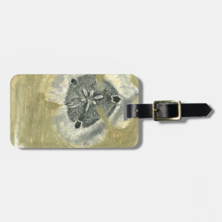 Flowerhead Abstract with Glazed Texture Luggage Tag