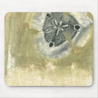 Flowerhead Abstract with Glazed Texture Mouse Pad