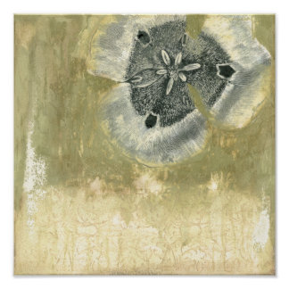 Flowerhead Abstract with Glazed Texture Poster