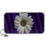 """""""Flowerhead blanco en rayas púrpuras """" * iPhone Altavoz"""