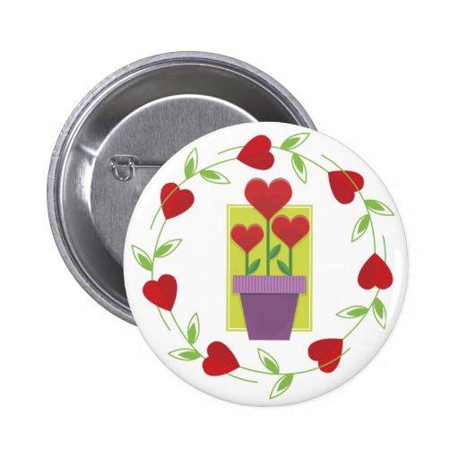 flowerhearts pin redondo 5 cm
