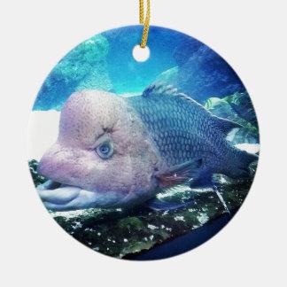 Flowerhorn Cichlid Fish Ceramic Ornament