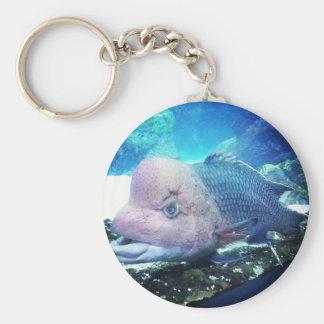 Flowerhorn Cichlid Fish Keychain
