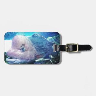 Flowerhorn Cichlid Fish Luggage Tag