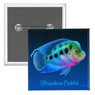 Flowerhorn Cichlid Fish Pin