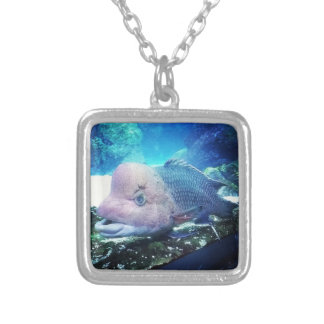 Flowerhorn Cichlid Fish Silver Plated Necklace