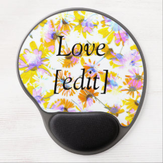 Flowering #3 - Mousepad With Text Gel Mouse Pad