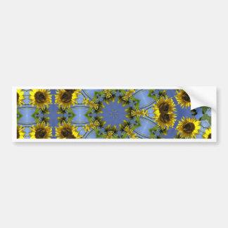 Flowering Abstract Sun Tunnel Bumper Sticker