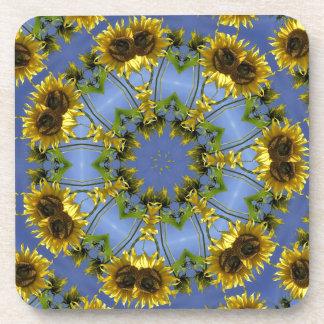 Flowering Abstract Sun Tunnel Coaster