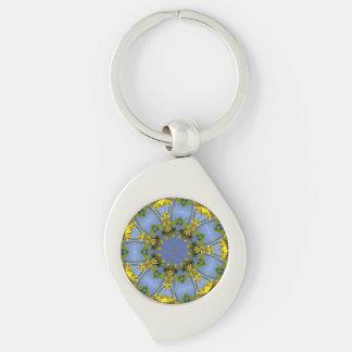 Flowering Abstract Sun Tunnel Keychain