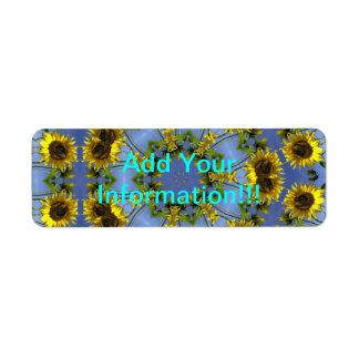 Flowering Abstract Sun Tunnel Label