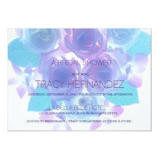 Flowering Affection   Purple Aqua Floral Bridal Card