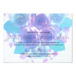 Flowering Affection | Purple Aqua Floral Wedding 5x7 Paper Invitation Card