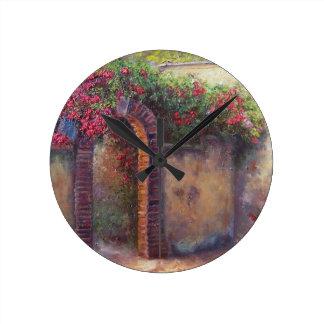 flowering arch round clock