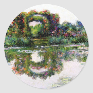 Flowering Arches by Claude Monet Classic Round Sticker