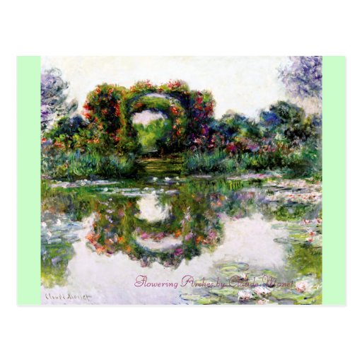 Flowering Arches by Claude Monet Postcard