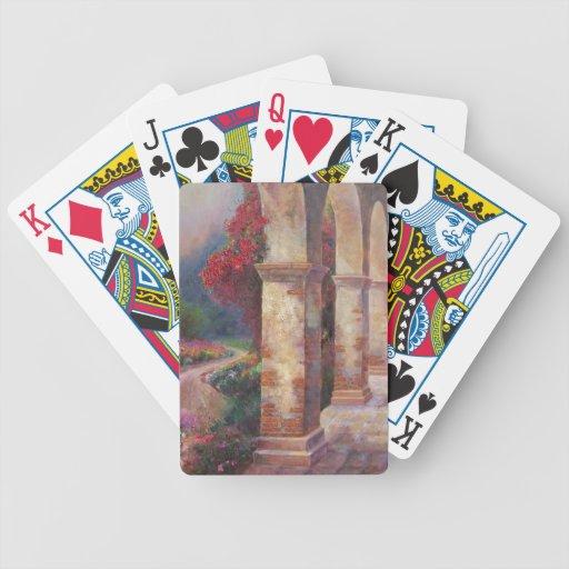 Flowering Archways Poker Deck