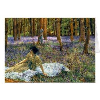 Flowering Bluebells 1890 Card