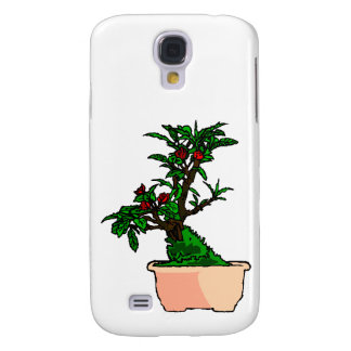 Flowering Bonsai in Pink Square Pot Samsung Galaxy S4 Cover