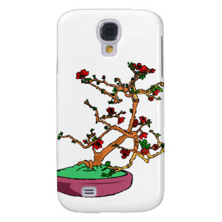 Flowering bonsai leaning tree in pot galaxy s4 cover