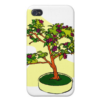 Flowering Bonsai Purple With Background Covers For iPhone 4