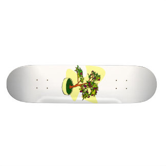 Flowering Bonsai Purple With Background Custom Skate Board