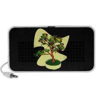 Flowering Bonsai Purple With Background Travel Speaker