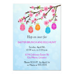 Flowering Branch Easter Eggs Party Card at Zazzle