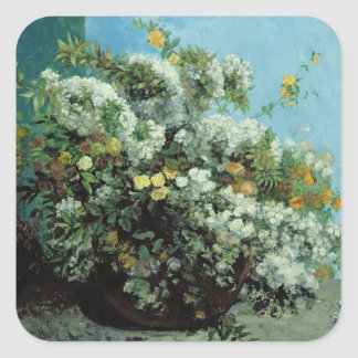 Flowering Branches and Flowers, 1855 Square Sticker