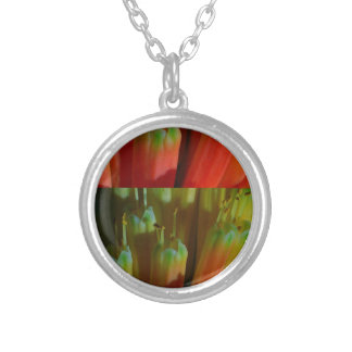 Flowering BUDS : Cactus Wild :  Greetings,Goodluck Silver Plated Necklace