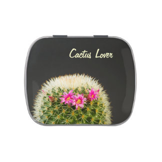 Flowering Cactus Candy Tin
