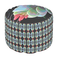 Flowering Cactus Combo Pouf