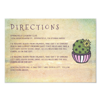 Flowering Cactus Directions Card