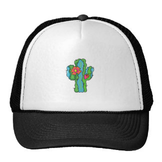 FLOWERING CACTUS MESH HAT