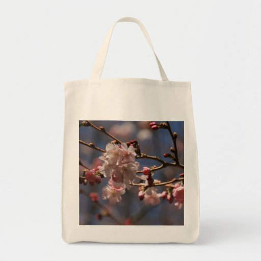Flowering Cherry Canvas Bags