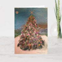 Flowering Christmas Tree Holiday Card