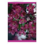 flowering crab blooms1 greeting card