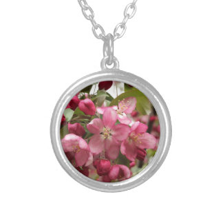 Flowering Crab Silver Plated Necklace