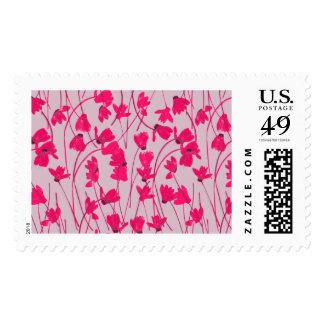 Flowering Cyclamen #1 - Postal Stamp