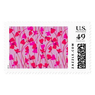 Flowering Cyclamen #2 - Postal Stamp