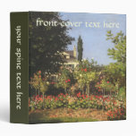 Flowering Garden at Sainte-Adresse by Claude Monet 3 Ring Binder