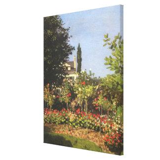 Flowering Garden at Sainte Adresse by Claude Monet Canvas Print