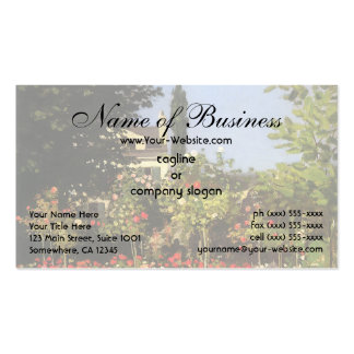Flowering Garden at Sainte-Adresse by Claude Monet Double-Sided Standard Business Cards (Pack Of 100)
