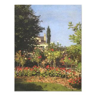 Flowering Garden at Sainte-Adresse by Claude Monet 4.25x5.5 Paper Invitation Card